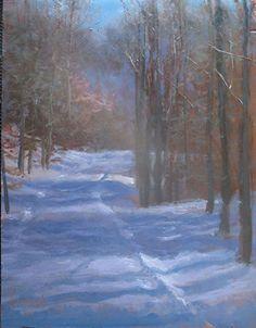 Winter Grooved   rzd by Richard Kochenash Oil ~ 18 x 14