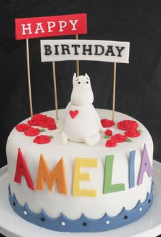 Moomin Cake! Birthday Ideas, Birthday Parties, Birthday Cake, 21st Cake, Little My, Sweets Recipes, Cake Creations, Cake Art, Let Them Eat Cake