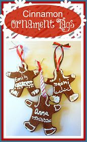 SusieQTpies Cafe: {Holiday Craft} Cinnamon Ornaments and Gift Tags