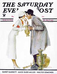 """Saturday Evening Post - 1934-05-19: """"Bargaining with Antique Dealer"""" (Norman Rockwell)"""