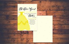 Be Our Guest Birthday Invite / Beauty And The Beast Invitation / Princess Belle Bday / Girl / Yellow Dress / Disney / Digital PDF