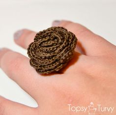 Crochet rose ring ❤ free tutorial