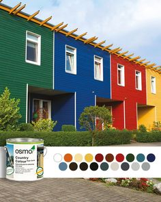 Country Colour is… A bright and wonderful collection of 19 opaque colours for exterior wood surfaces. Boasting excellent weather and UV-resistance, which will not crack, peel or flake – unlike generic outdoor paints. Splash some colour into your life! ❤️🧡💛💚💙💜🖤🤍🤎 Search 'Osmo Country' online today 😁 Get Inspired on Instagram: #OsmoOil