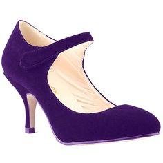 f27df271d18b Loslandifen Ladies Mary Jane Mid Heels Casual Ankle Strap Work Pump Shoes.  Heel Height.
