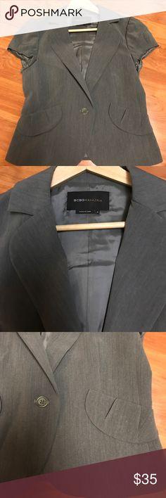 BCBG Blazer ! BCBG short sleeve blazer. Size: Small. Cute blazer in a great condition. !! Best offer welcome. No return BCBGMaxAzria Jackets & Coats Blazers