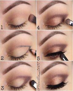 Eye Make Up for Date Eyeliner, , Eye Makeup Steps, Simple Eye Makeup, Natural Makeup, Natural Beauty, Simple Smokey Eye, Simple Eyeshadow Looks, Daytime Eye Makeup, Natural Smokey Eye, Asian Beauty