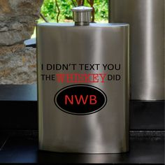 Whiskey & Texting Flask - Personalized