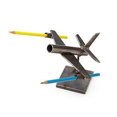 PLANE DESKTOP CADDY | Metal Airplane Sculpture | UncommonGoods                                                                                                                                                     More