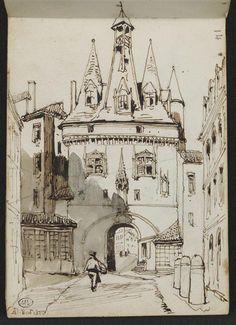 Adrien Dauzats | Vue de Bordeaux | Images d'Art
