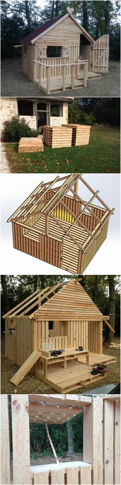Shed Plans - DIY Pallet Hideout For The Kids - Now You Can Build ANY Shed In A Weekend Even If You've Zero Woodworking Experience!