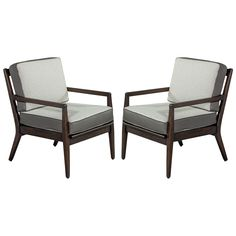 Pair of Mod Lounge Chairs | From a unique collection of antique and modern lounge chairs at https://www.1stdibs.com/furniture/seating/lounge-chairs/