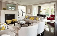 Your living room furniture can make a huge impact. If you're trying to choose the best traditional living room furniture, you may think about the colors and patterns. Formal Living Rooms, Living Room Grey, Home And Living, Living Room Furniture, Living Room Decor, Living Spaces, Small Living, Living Area, Sofa Furniture