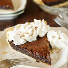 As simple a pie as they come, this chocolate crack pie will satisfy any sweet tooth or chocoholic. Melted chocolate, butter, sugar, and eggs fill a pie shell and are baked.