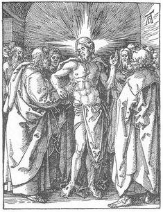 The Incredulity of St Thomas Albrecht Dürer · Little Passion, 1511 Albrecht Durer, Caravaggio, Web Gallery Of Art, Biblical Art, European Paintings, Art Database, Italian Artist, St Thomas, Art Images