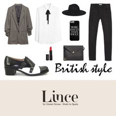 Look british. #outfit #look #tendencias #moda #ideas #shoes #lince