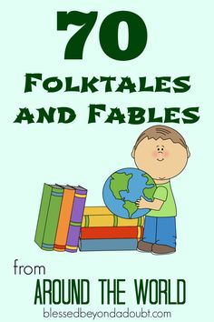 Homeschool Freebies: 70 Folktales and Fables from Around the World This can help students be exposed to different cultures around the world. It would be great for integrated Language Arts and writing. Traditional Literature, Traditional Stories, 3rd Grade Reading, Library Lessons, Thinking Day, Readers Workshop, Children's Literature, Literature Circles, Reading Strategies
