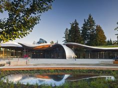 VanDusen Botanical Garden Visitor Centre in Vancouver, B. by Perkins+Will, from Architect Magazine Garden Architecture, Architecture Design, Futuristic Architecture, Vancouver Travel, Tourist Center, Architect Magazine, Contemporary Landscape, Green Building, Botanical Gardens
