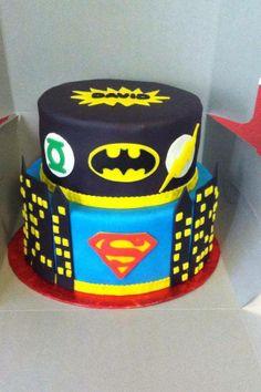 Children's Birthday Cakes - justice league super hero birthday cake