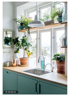 36 Colorful and Bright Home Decor Choice For Your Home home design, , interior d… - Home Decoration Ideas Home Interior, Kitchen Interior, Kitchen Decor, Interior Design, Kitchen Ideas, Brass Kitchen, Design Kitchen, Vintage Kitchen, Interior Plants