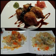 Sushi at Tokyo Dining in Epcot. Delicious!