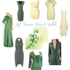 """Soft Summer Green and Yellow"" by sabira-amira on Polyvore"