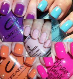 Shocking neon nails