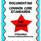 2nd GRADE COMMON CORE STANDARDS - documentation kit - $    *Language Arts Teacher checklist *Lang...