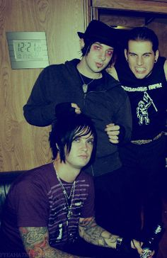 The Rev, Zacky Vengeance and M. Shadows