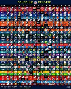 NFL 2018 Schedule Rich Simon Awesome RobinsPost Sports News Events Nfl Football Helmets, Football Memes, College Football, Nfl Super Bowl History, Kodi Live Tv, Free Tv Channels, All Nfl Teams, Nfl Photos, Sports