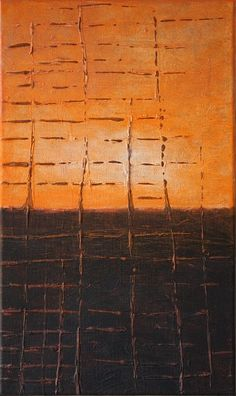 Painting Françoise Stoop. Horizon, sunset. If you want to see more of her work; please click on this link: http://fstoop.nl/home2.html#x0
