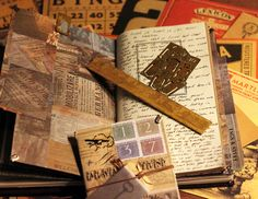 """Original pinner sez: Midori Travelers Notebook sells also the """"brass""""collection..I speeded up the aging proces..by using some """"chemicals""""...;))"""