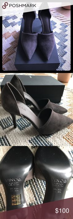 """NWT Vince Claire d'Orsay Pumps Suede pumps in the color """"Umber"""", heel is 3.25"""", Made in Italy. Dust bag and box included. Vince Shoes Heels"""