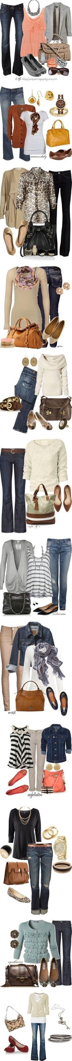 Fall looks for all different shapes and sizes. Looks for work, school, or casual wear.