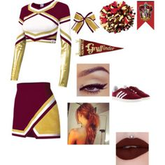 Gryffindor cheerleader