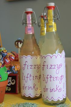 Charlie and the Chocolate Factory Theme - Fizzy lifting drinks for a Wonkarific party.
