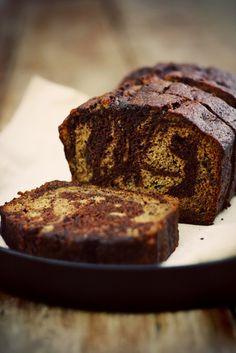 Chocolate Banana Swirl bread with Cinnamon butter