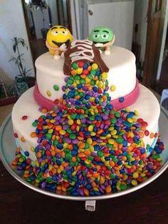 Nuevas Tendencias en Decoración de Tortas: Tortas y Cupcakes con Golosinas Big Cakes, Fancy Cakes, Sweet Cakes, Fondant Cakes, Cupcake Cakes, Cake Designs For Girl, Novelty Cakes, Cake Boss, Occasion Cakes