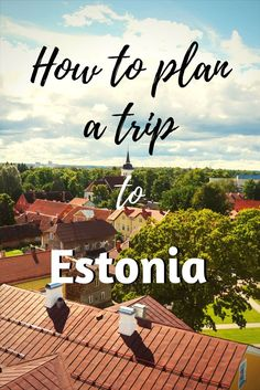 A trip to Estonia by yourself: places to visit, itinerary, local specifics and other important information.
