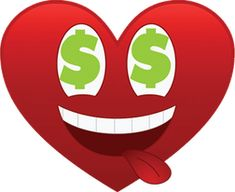 This emoticon is in love with those dollar signs. Dollar Sign Tattoo, Money Emoji, Heart Emoticon, Emoji Movie, One Dollar, Symbolic Tattoos, Love Notes, Smile Face, Close To My Heart