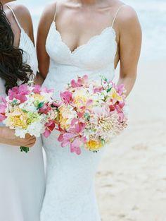 Wedding Bouquets : Picture Description Colorful + beachy wedding bouquet: www.stylemepretty… | Photography: Wendy Laurel – www.wendylaurel.com/ - #Bouquets https://weddinglande.com/accessories/bouquets/wedding-bouquets-colorful-beachy-wedding-bouquet-www-stylemepretty-photography-wendy-lau/