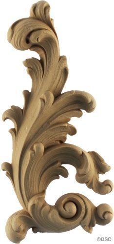 Leaf Scroll - Rococo - Louis XIV 7H X 3 1/4W - 3/4 Relief.