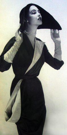 1951 Vogue Paris  designed by Marcel Rochas #EasyNip