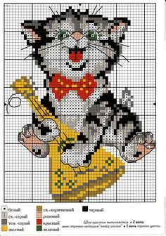 Cross stitch - circuit cats and kittens. A lot of! Cross Stitch Music, Cross Stitch Bird, Cross Stitch Alphabet, Cross Stitch Animals, Cross Stitch Charts, Cross Stitching, Cross Stitch Embroidery, Embroidery Patterns, Hand Embroidery