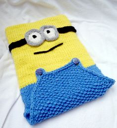 Free Knitting Pattern for Minion iPad Cover