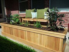 cedar planter box green