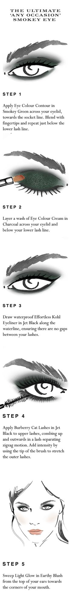 Your easy to follow make-up 'how to' for the ultimate smokey eye in 10 minutes. Shop the complete look at Sephora.com and explore new Burberry Cat Lashes.