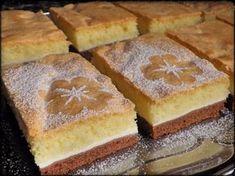 TŘÍBAREVNÝ TVAROHOVÝ KOLÁČ Hungarian Cake, Cake Stencil, Desert Recipes, Cornbread, Food And Drink, Baking, Ethnic Recipes, Anna, Hampers