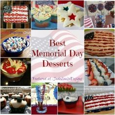 Memorial Day Recipes; Top Memorial Day Desserts - Jade Louise Designs| A Family Lifestyle Blog