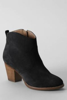 I need a pair of booties...Women's Harris Suede Ankle Boots from Lands' End