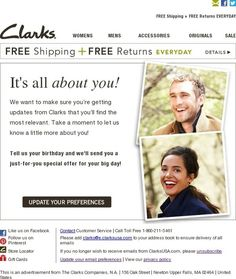 Update Your Email Preferences - Clarks Shoes